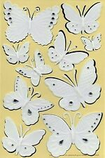 EK SUCCESS MARTHA STEWART 3-D STICKERS  BUGS INSECTS EMBOSSED BUTTERFLIES & GEMS