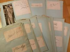 1906-1936 Olympic Autographs / 28 autographs from various countries
