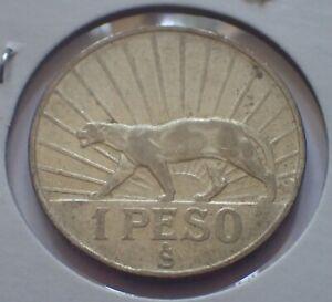 URUGUAY 1942SO Peso Silver Coin