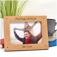 BEST DADDY Personalised Birthday Gifts Daddy Dad Grandad ENGRAVED Photo Frame