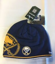 Buffalo Sabres Knit Beanie Toque Winter Hat Skull Cap NHL New BLG Reversible $25