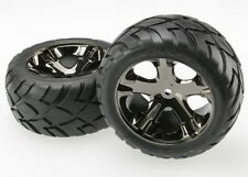 Traxxas Anaconda Rear Tires w/All-Star Wheels (Black Chrome) (Standard) (2)