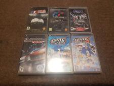 Bundle of 6 PlayStation PSP Games Soccer Gran Turismo Star Wars NFS Sonic Rivals