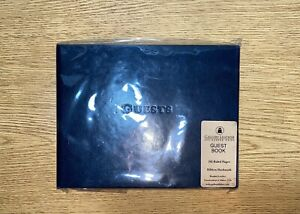 Leather Gallery Leather Guest Book - 192 Pages - Open Format - Acadia Navy NEW