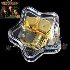 Transparent Star Wind Up Music Box : Pirates of Caribbean He's A Pirate Theme