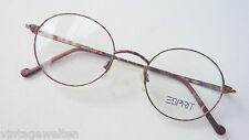Esprit Oldschoolbrille Metallrahmen Brillenfassung fast rund braun NEU size M