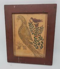 LMAS ~ S. Trone Folk Art Birds On Branch Print