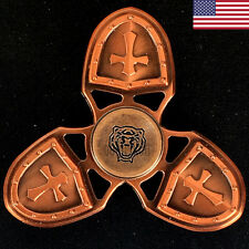 Tiger Crusader Fidget Hand Spinner Copper Cross Shield 2017 Must Have Toy Gift