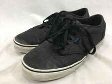Vans Off The Wall Cloth Fabric Sneakers Shoes Mens 9.5 Gray Skateboard Skater