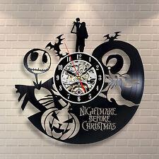 Disney Nightmare Before Christmas 2008 Jack & Zero Present Vinyl Record Clock