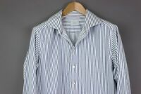 ETON Men Contemporary Long Sleeve Striped Casual Formal Shirt Size 43-17 MZ359
