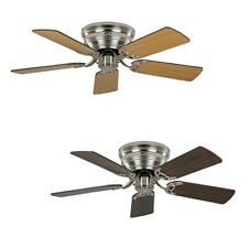 CasaFan ceiling fan Classic FLAT brushed chrome extra flat in various sizes