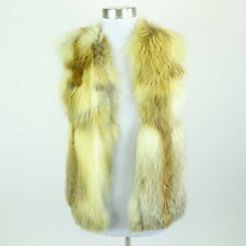 Kim Kardashian West ISABEL MARANT Brown Fox Fur Hook Front Vest Size 0