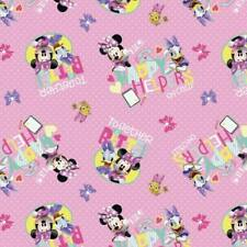 100% Cotton Fabric Springs Creative Disney Minnie Mouse Daisy Duck Friends