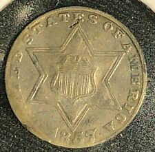 1857 Three Cent Silver