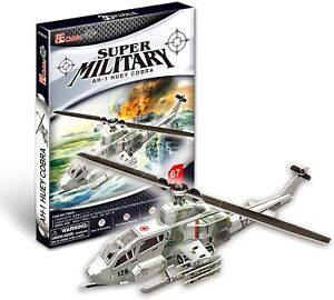 CUBIC FUN Bell AH-1 Huey Cobra Military Helicopter 3D Puzzle Model Building Kit