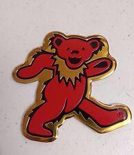 """(#82) Metallic GRATEFUL DEAD DANCING BEAR 3"""" x 3.25"""" sticker decal (1150) ©GDP"""