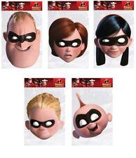 Incredibles 2 OFFICIEL CARTE Masques de visage de fête Paquet de 5 Parr famille