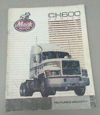 1988 Vintage Mack Truck Bulldog CH600 Series Original Sales Brochure Features