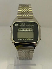 Orient Chrono Alarm  GS741107-40 Quartz  Digital LCD   Watch Collectible  Lot1