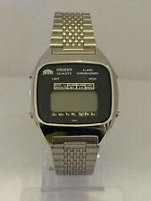 Orient Chrono Alarm GS741107-40 Quartz LCD Uhr Sammlerstück Lot1