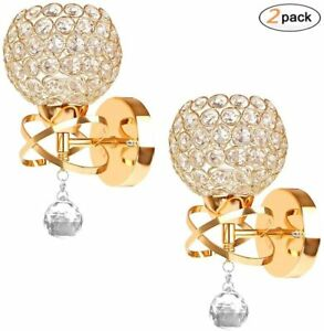 Crystal Wall Lights A Pair 2Pcs E14 Modern K9 Crystal Mirror Stainless Steel