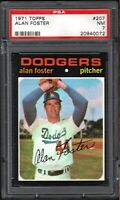 1971 TOPPS #207 ALAN FOSTER LOS ANGELES DODGERS PSA 7 NM