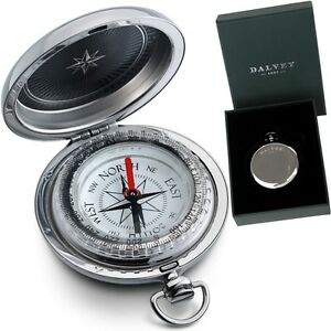 Dalvey Stainless Steel Vintage Compass Gift Box Sports Compass