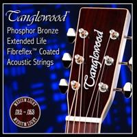 Tanglewood Phosphor Bronze FibreFlex Coated Acoustic Guitar Strings - 12-53