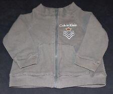 Calvin Klein Baby Boy Zippered Jacket 12 Months Dark Gray Thermal Knit
