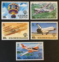 Solomon Islands. Bicentenary of Manned Flights Set.  SG493/97. 1983. MNH. #AK120