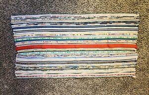 Rag Rug Chindi Vintage Style Colorful