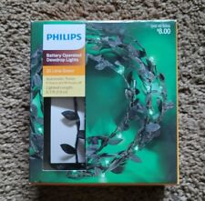 New Philips Lime Green Battery Operated Dewdrop Christmas Decor Lights