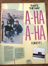 A-HA Scoundrel Days 1986 glossy UK Poster size Press ADVERT 16x12 inches