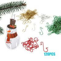 -120pcs Stainless Steel S-shaped Light Hangers Hooks for Christmas Tree Decor.