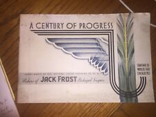Jack Frost Sugar Advertising Booklet, 1933 Chicago World's Fair Souvenir, Black
