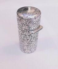 Superb A1 victorian Sampson Mordan Silver Mounted Perfume Flask London c1838