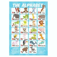 ABC Alphabet Educational Poster, Pre-School Early Learning, Homeschooling Kids