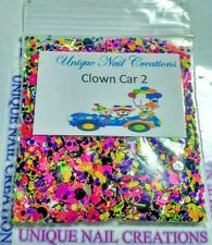 Limited Edition Glitter Mix~Clown Car #2* Comes With Alloy~ Nail Art