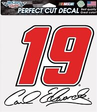 "NASCAR #19 Carl Edwards 8"" x 8"" Perfect Cut Color Decal"