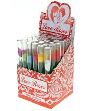 Love Roses 36-Pc Box Glass Tube Pipe One-Hitter Straw