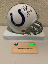 Peyton Manning Signed Indianapolis Colts Mini Helmet Steiner