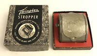 Twinplex Stropper Model G 200 Safety Razor Blade Sharpener w Box 1950's
