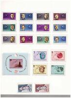 s15017) SPACE 1963  MNH** Albania Bulgaria Czech. 18v + S/S (6v imperforated)