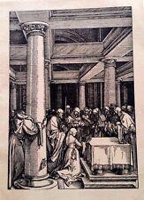 Albrecht Durer Durer Society hand laid paper 1600 's impression on rear rare