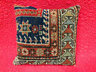 "Antique Prayer Rug converted Pillow 12""x12"" (Possibly Akstafa? Circa 1880)"