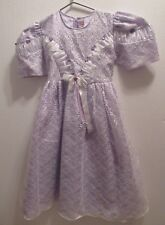 Girls Original purple taffeta dress with lace over lay brand new size 12