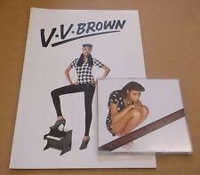 V.V. BROWN Game Over 2009 UK 1-track promo CD + A4 press book