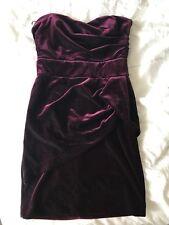 BWNOT Bardot Myer Burgundy Velvet Strapless Cocktail Dress Size 10 Vegas Casino