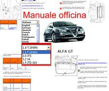 MANUALE OFFICINA Alfa Romeo GT WORKSHOP MANUAL SERVICE SOFTWARE ELEARN